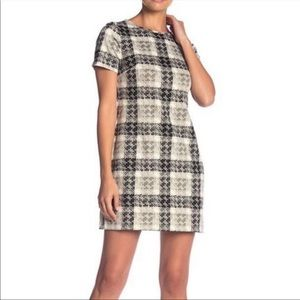Eliza J Short Sleeve Printed Shift Dress